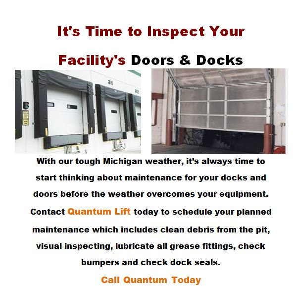 It's time to inspect your facility's doors and docks